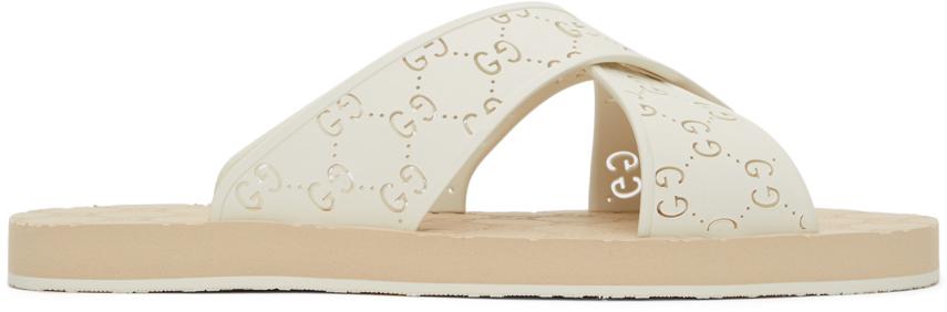 Gucci 白色 GG 凉鞋