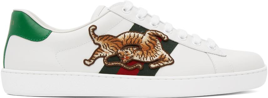 Gucci 白色 Tiger Ace 运动鞋