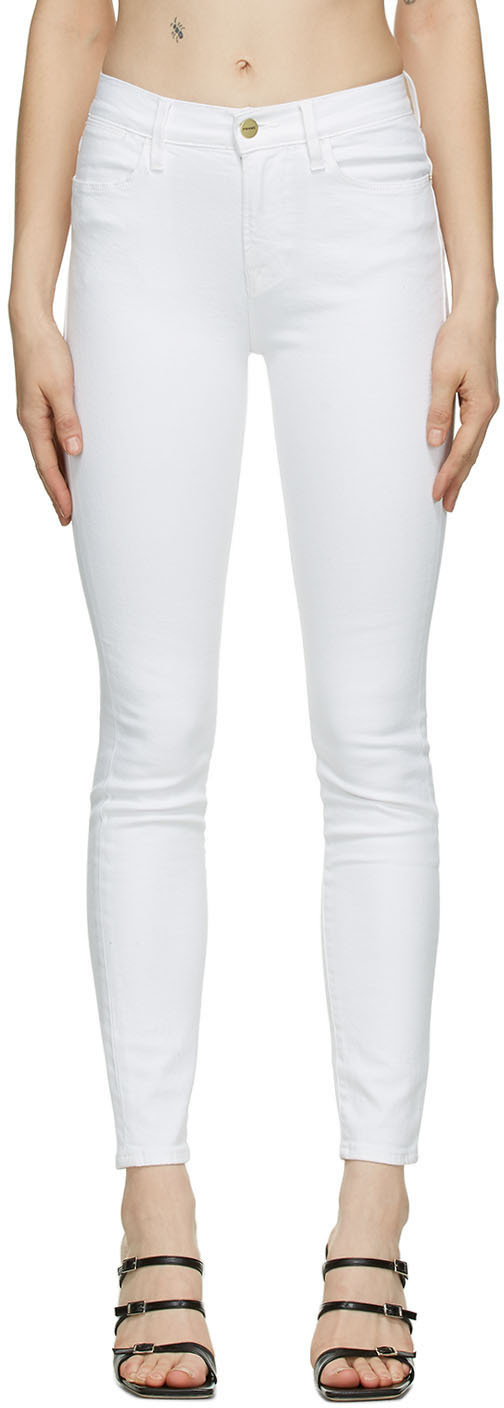 White 'Le High Skinny' Jeans