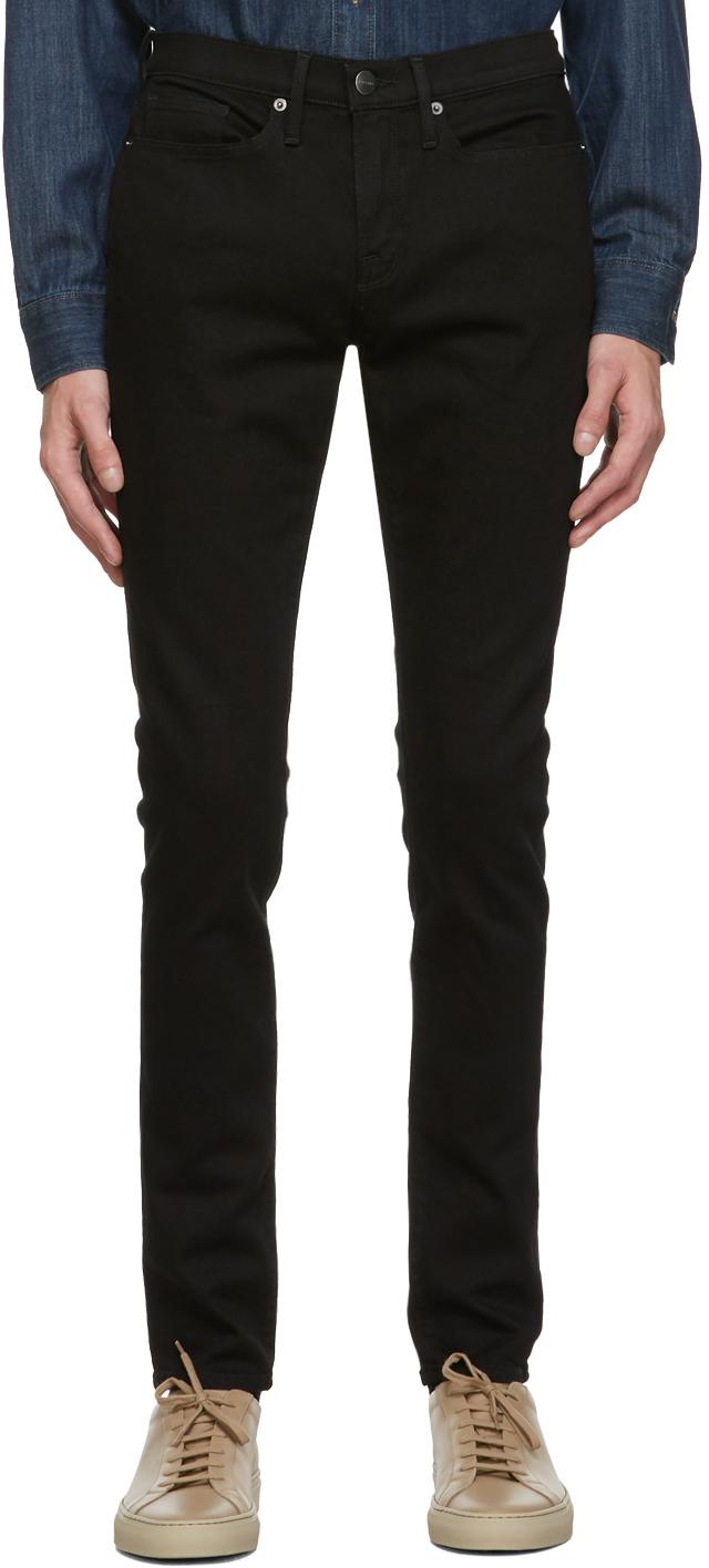 Black L'Homme Skinny Jeans