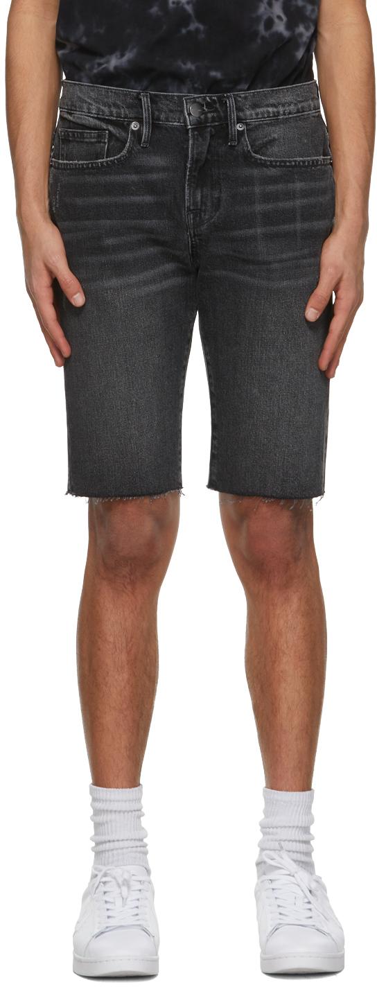 FRAME 黑色 L'Homme Cut Off 短裤