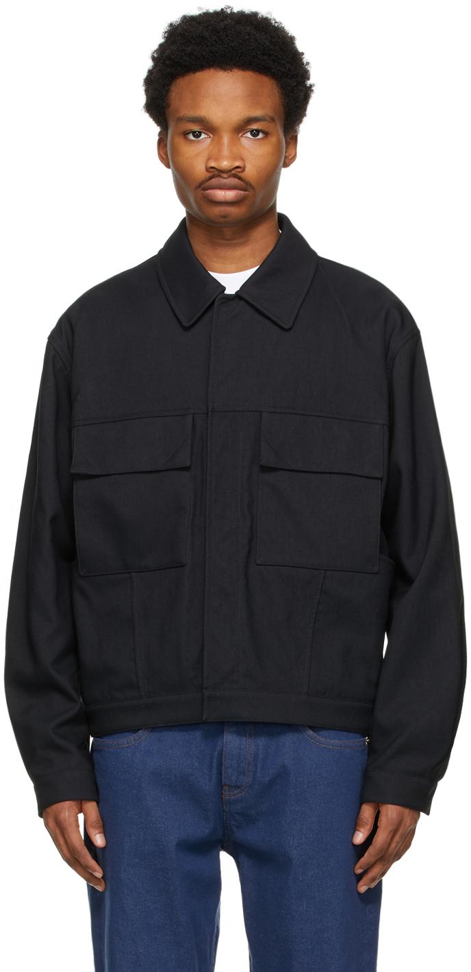 Black Recycled Nylon Jacket