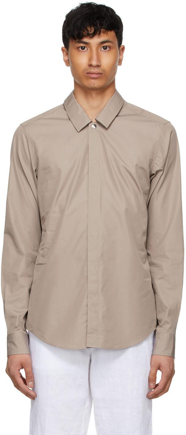 Taupe Poplin Shirt
