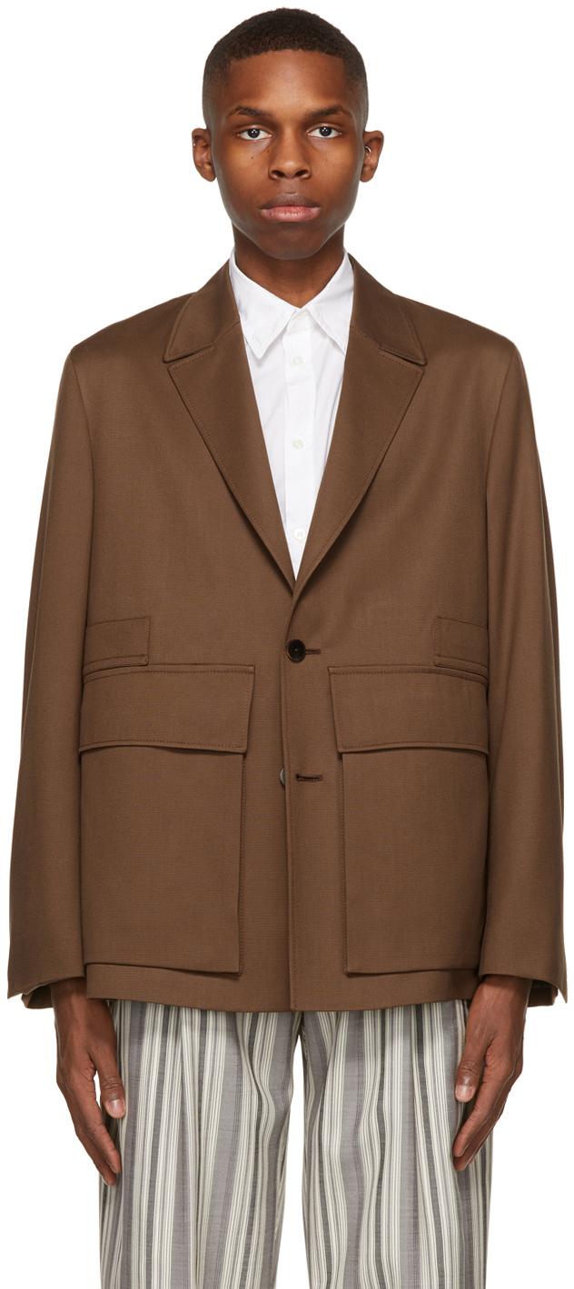Brown Wool Achill Farm Blazer