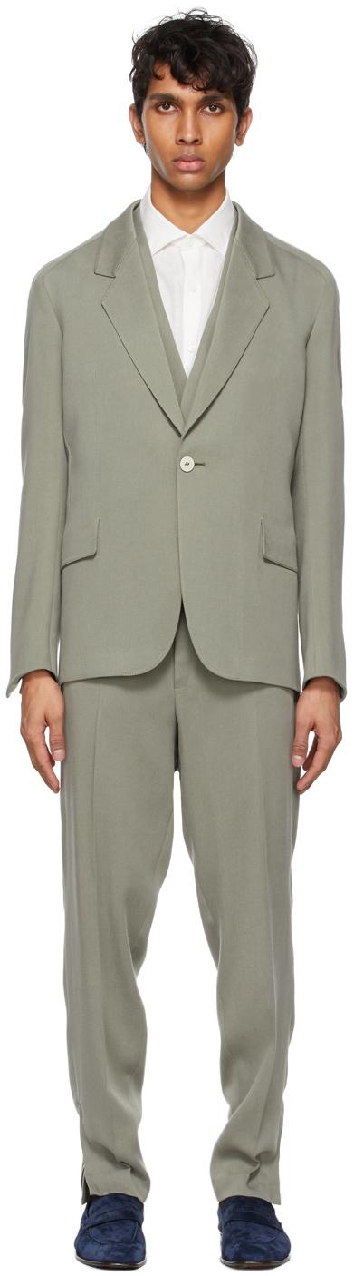 Grey Viscose Three-Piece Suit