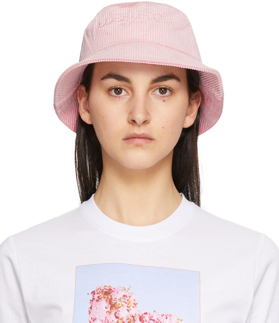 Pink Corduroy Bucket Hat