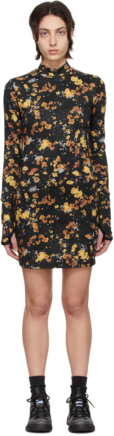 Black Base Layer Print Dress