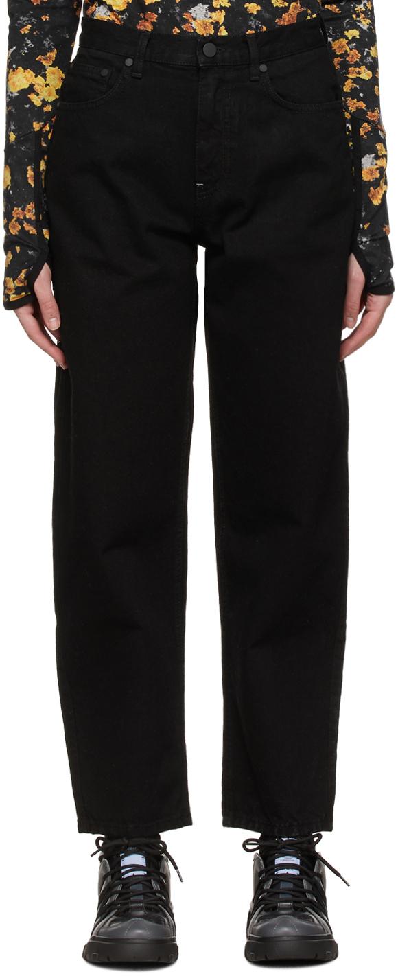 MCQ 黑色 No.0 系列 Curved Leg 牛仔裤