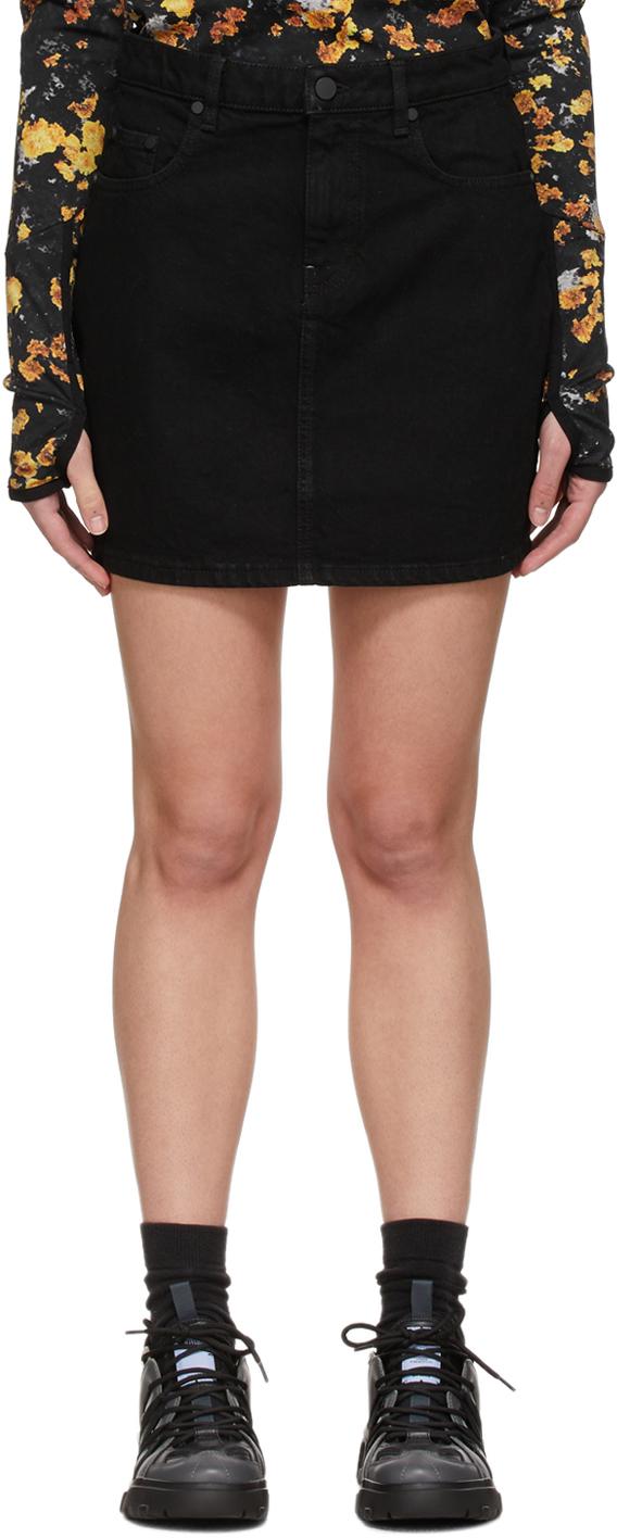 MCQ 黑色 No.0 系列 Straight 牛仔短裙