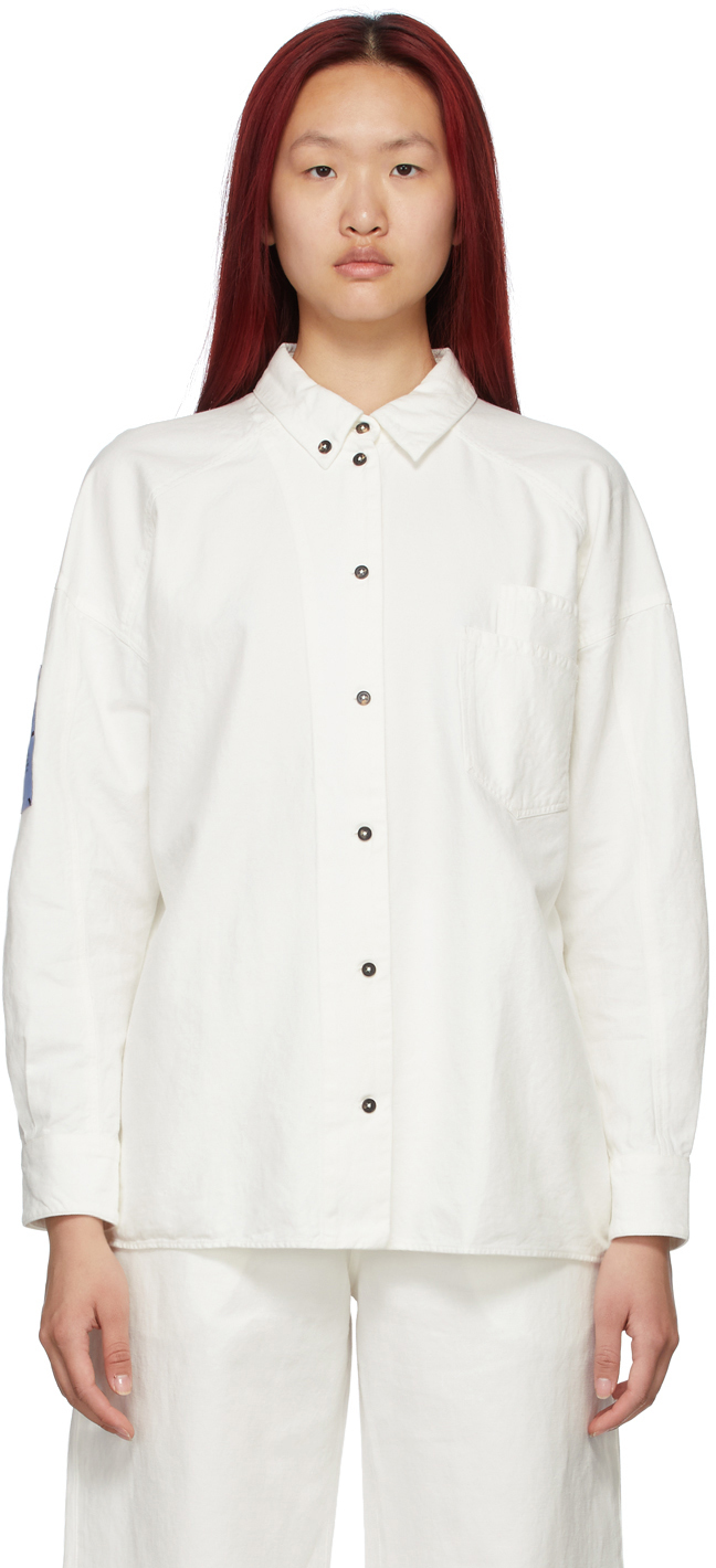 Off-White Double-Placket Shirt