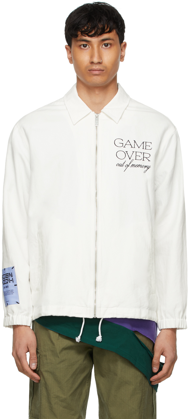 White 'Game Over' Jacket