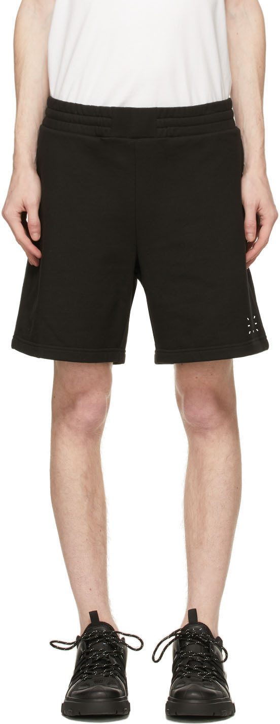 MCQ 黑色 No.0 系列徽标短裤
