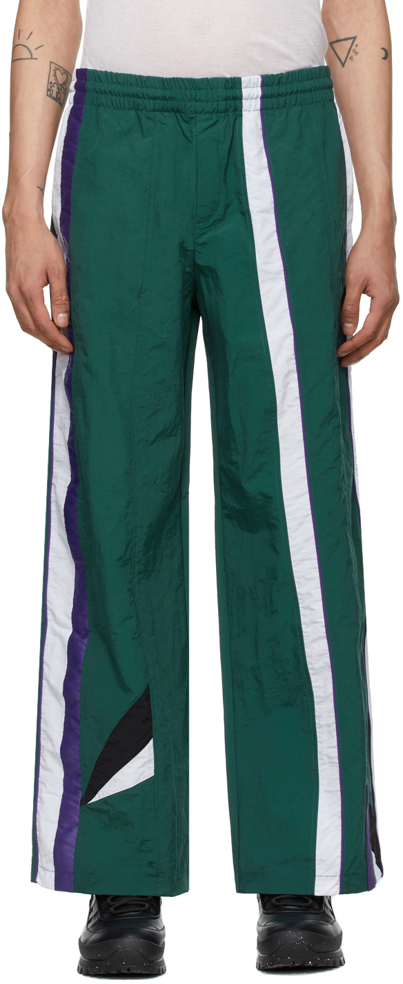 Green Striped Track Lounge Pants