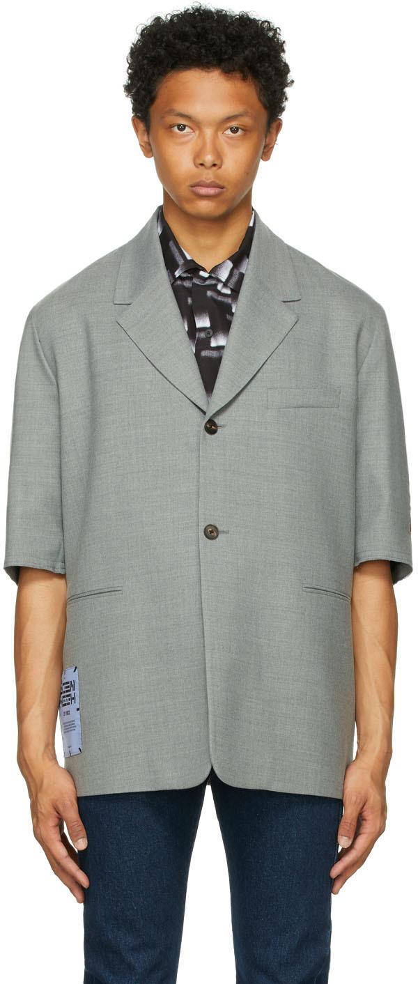 Grey Cutoff Blazer