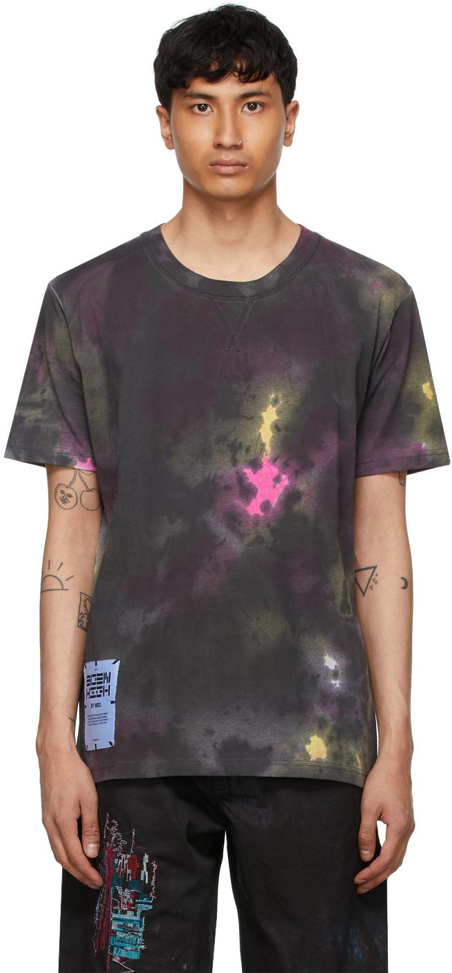Black Coverstitch T-Shirt