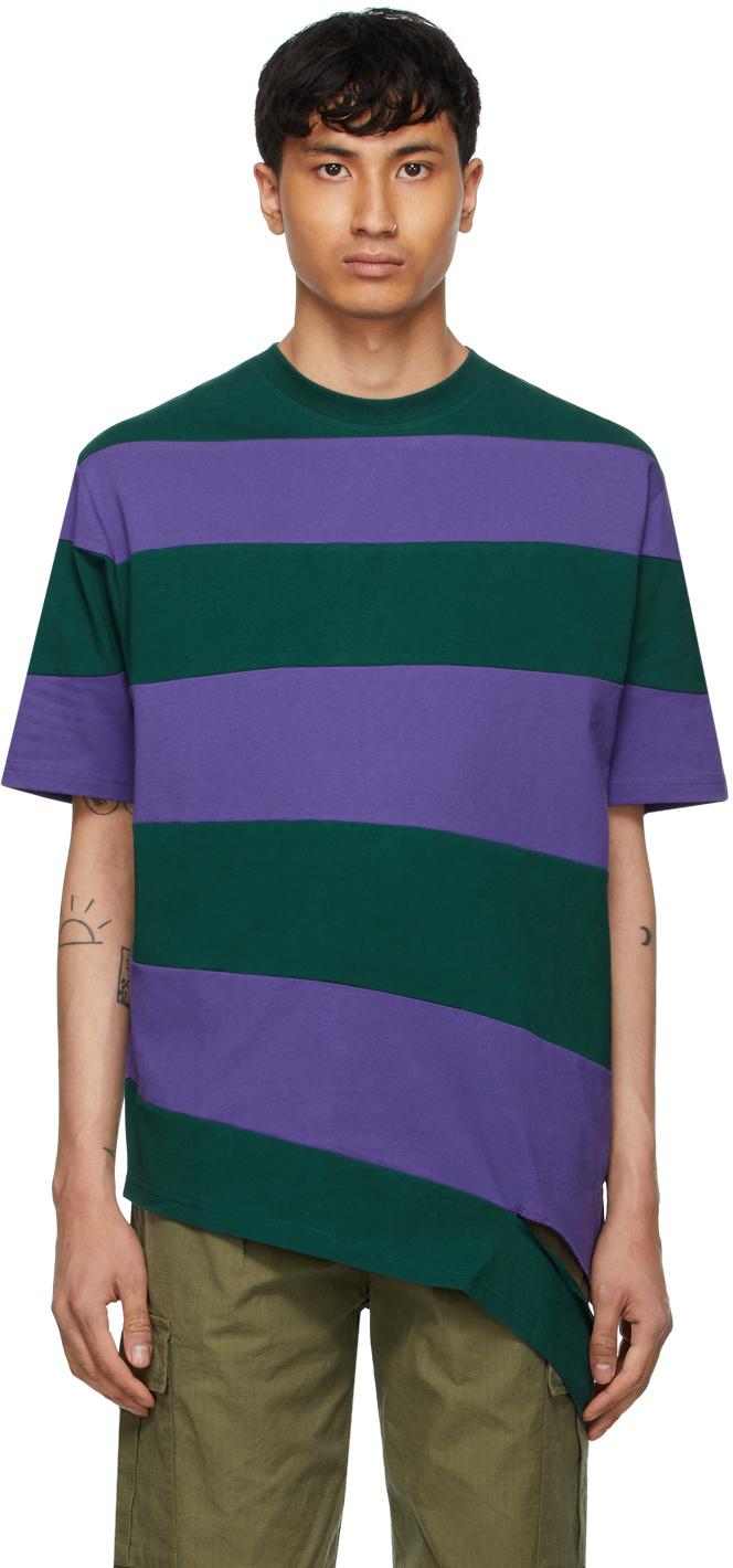 Purple & Green Warped T-Shirt