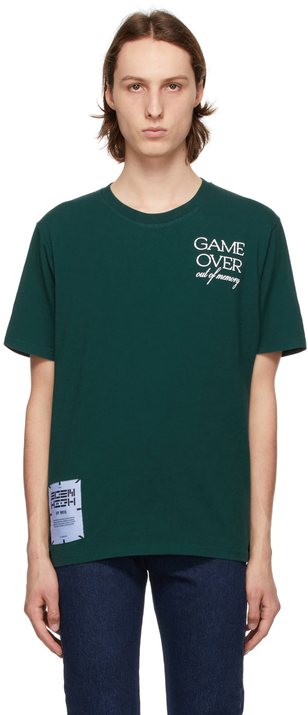 Green Relaxed Logo 'Game Over' T-Shirt