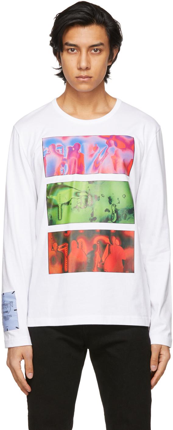 MCQ 白色 Regular 长袖 T 恤