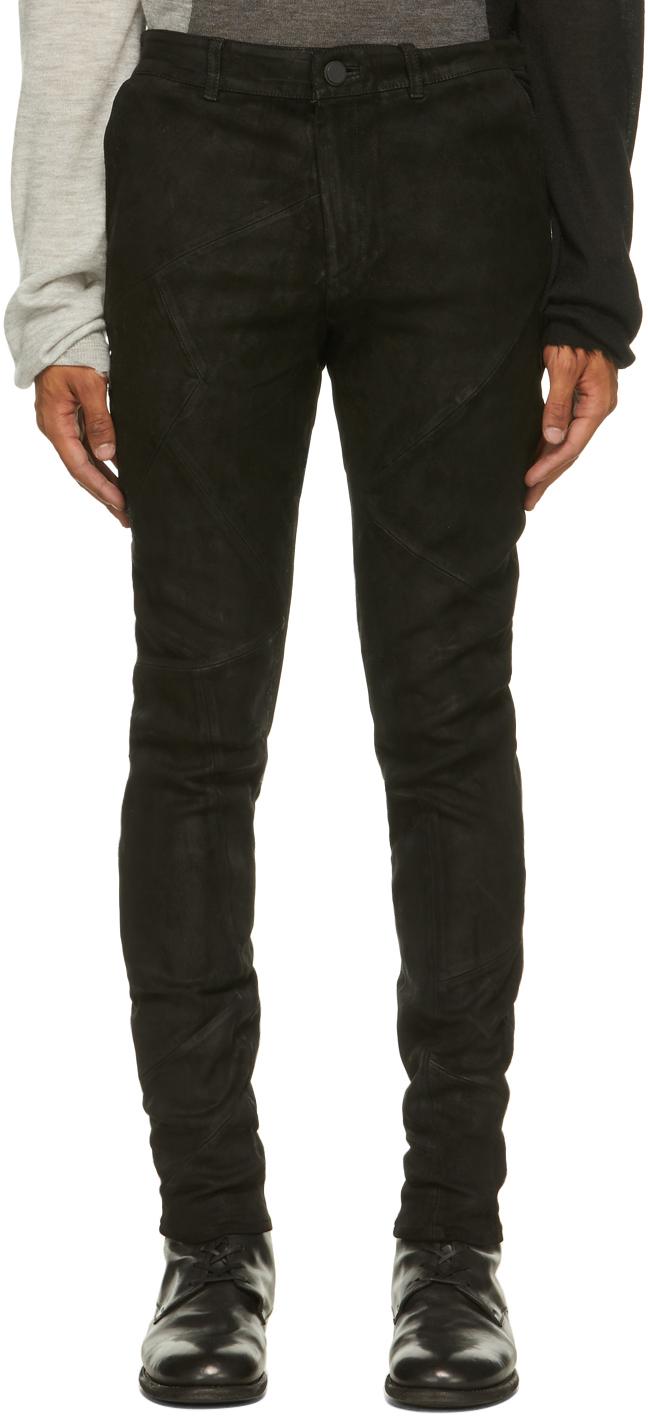 Black Suede Feral Pants