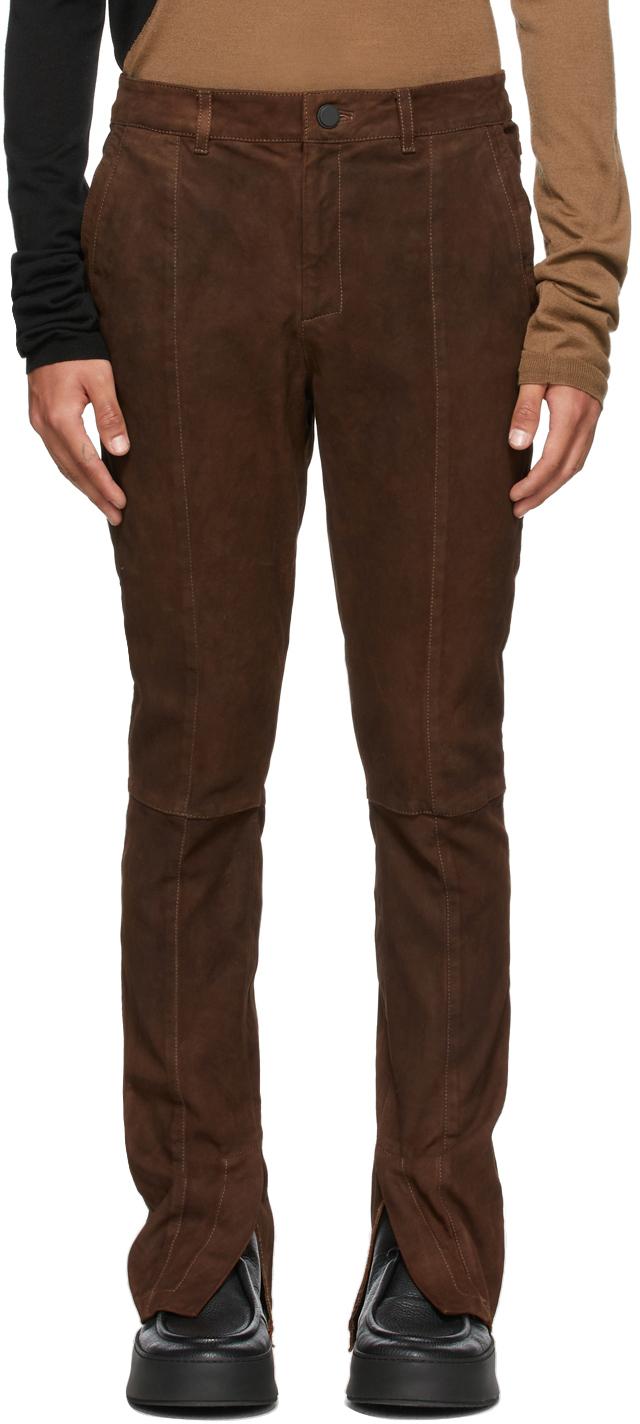 Brown Suede Fledermaus Pants