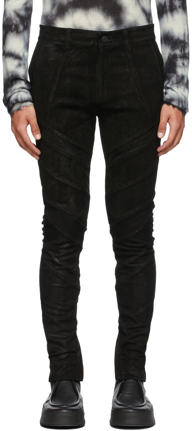 Black Leather Gloaming Pants
