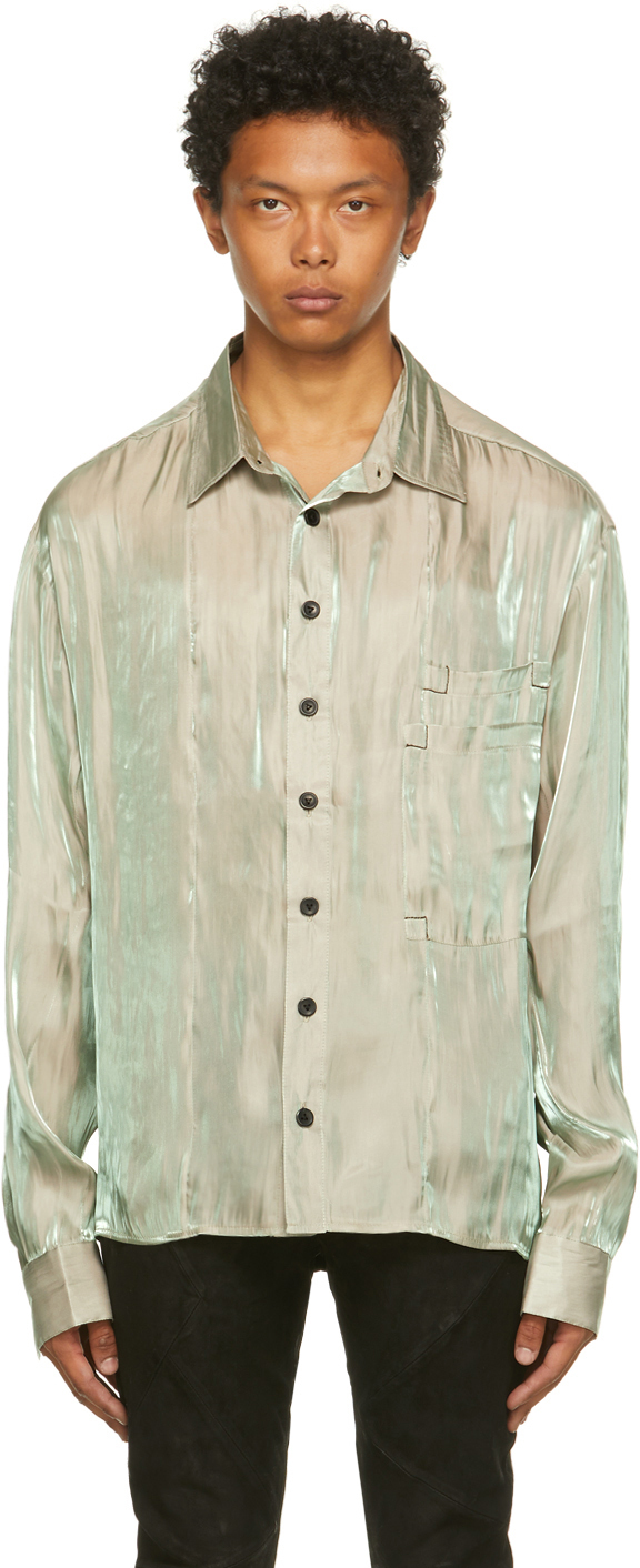 Grey Iridescent Ila Shirt