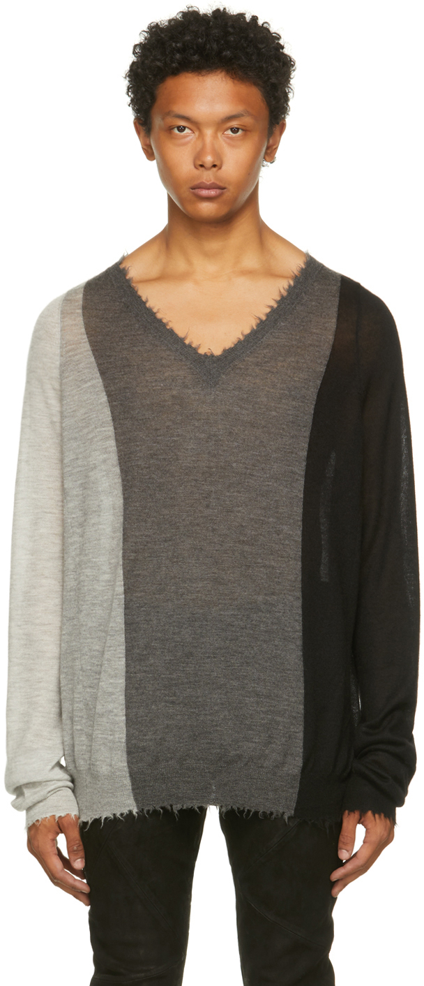 Grey Cashmere Dust Sweater