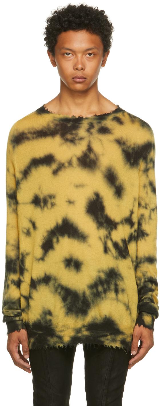 Yellow & Black Cashmere Edge Sweater