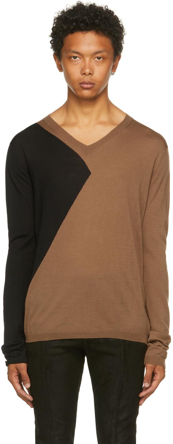 Brown & Black Merino Equinox Sweater