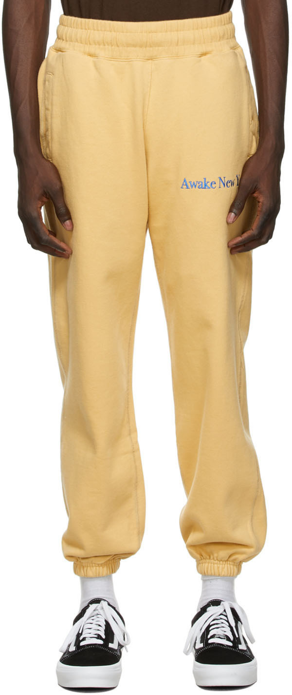 Yellow Classic Outline Logo Lounge Pants