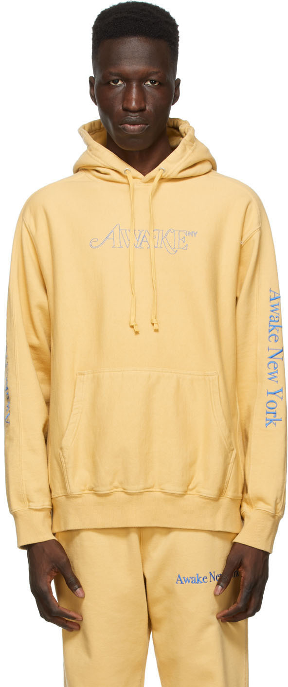 Yellow Classic Outline Logo Hoodie