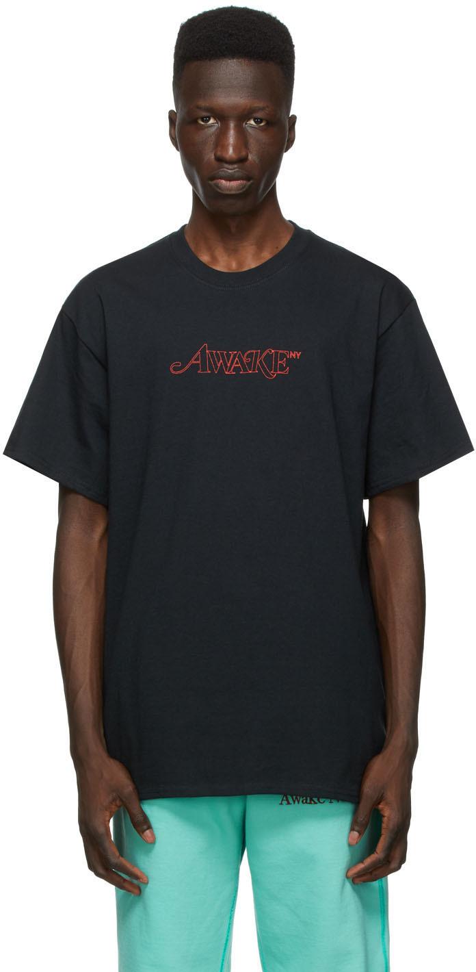 Black Classic Outline Logo T-shirt