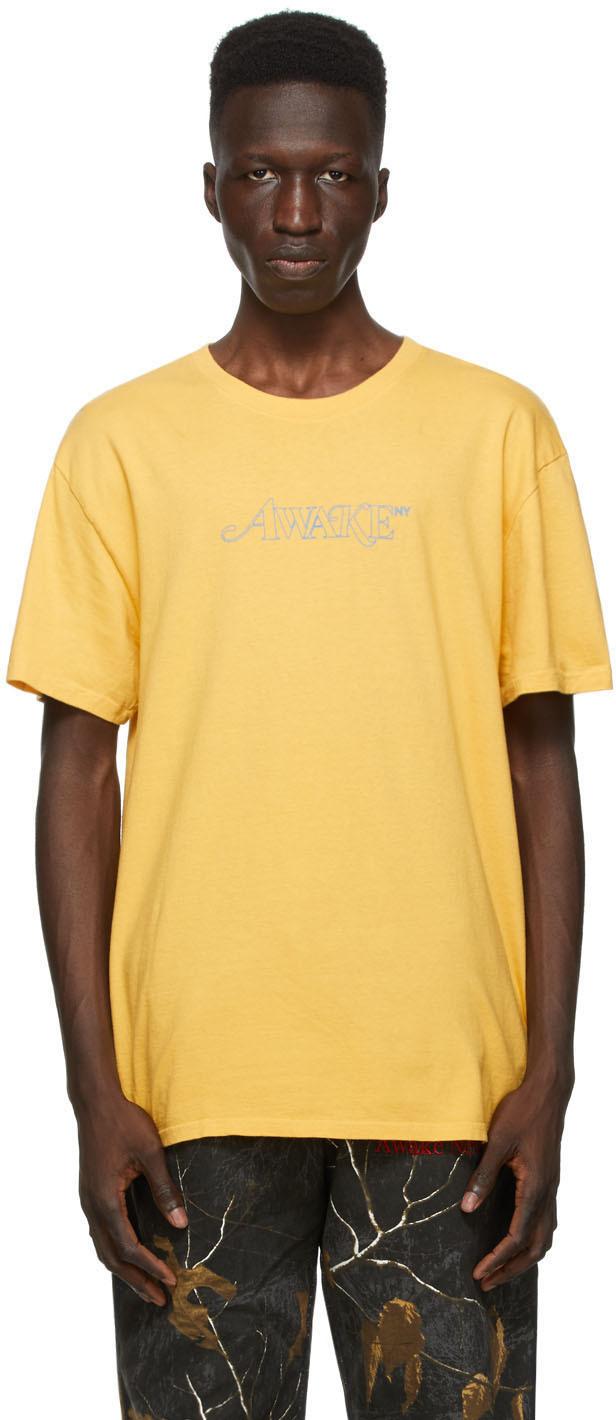 Yellow Classic Outline Logo T-shirt