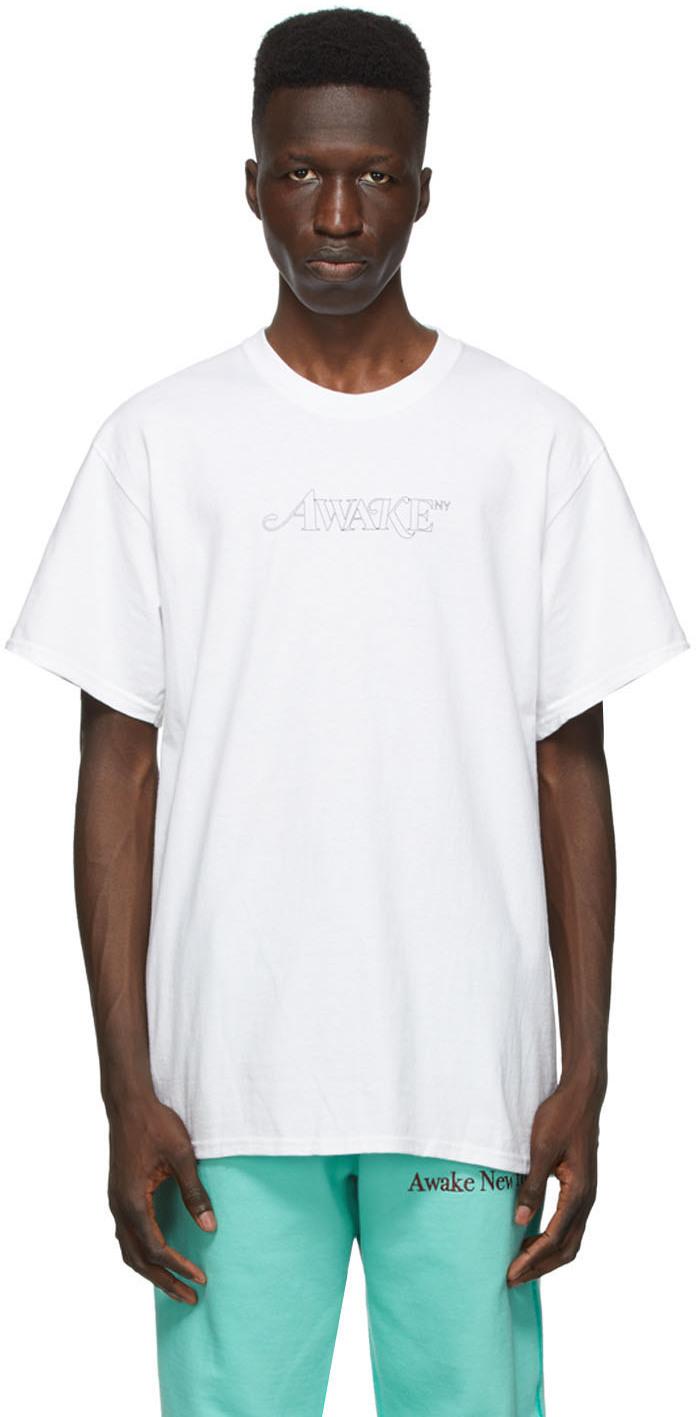 White Classic Outline Logo T-shirt