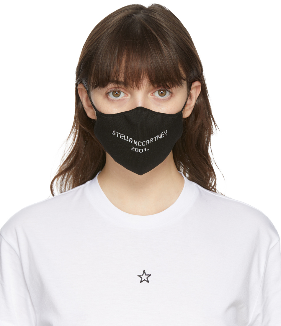 Stella McCartney 黑色徽标口罩