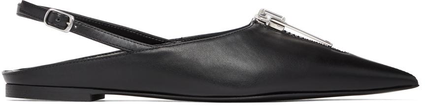 Stella McCartney 黑色 Zipit 露跟平底鞋