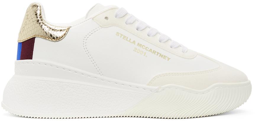 Stella McCartney ホワイト & ゴールド Loop スニーカー