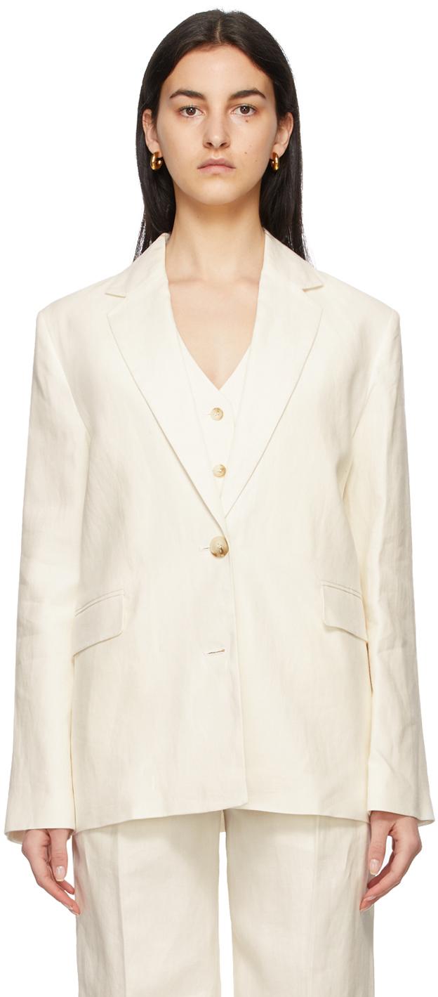 Off-White Linen Bambo Blazer