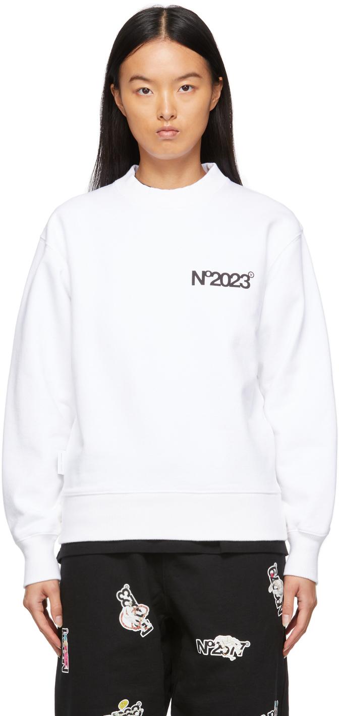 White 'No2023' Sweatshirt