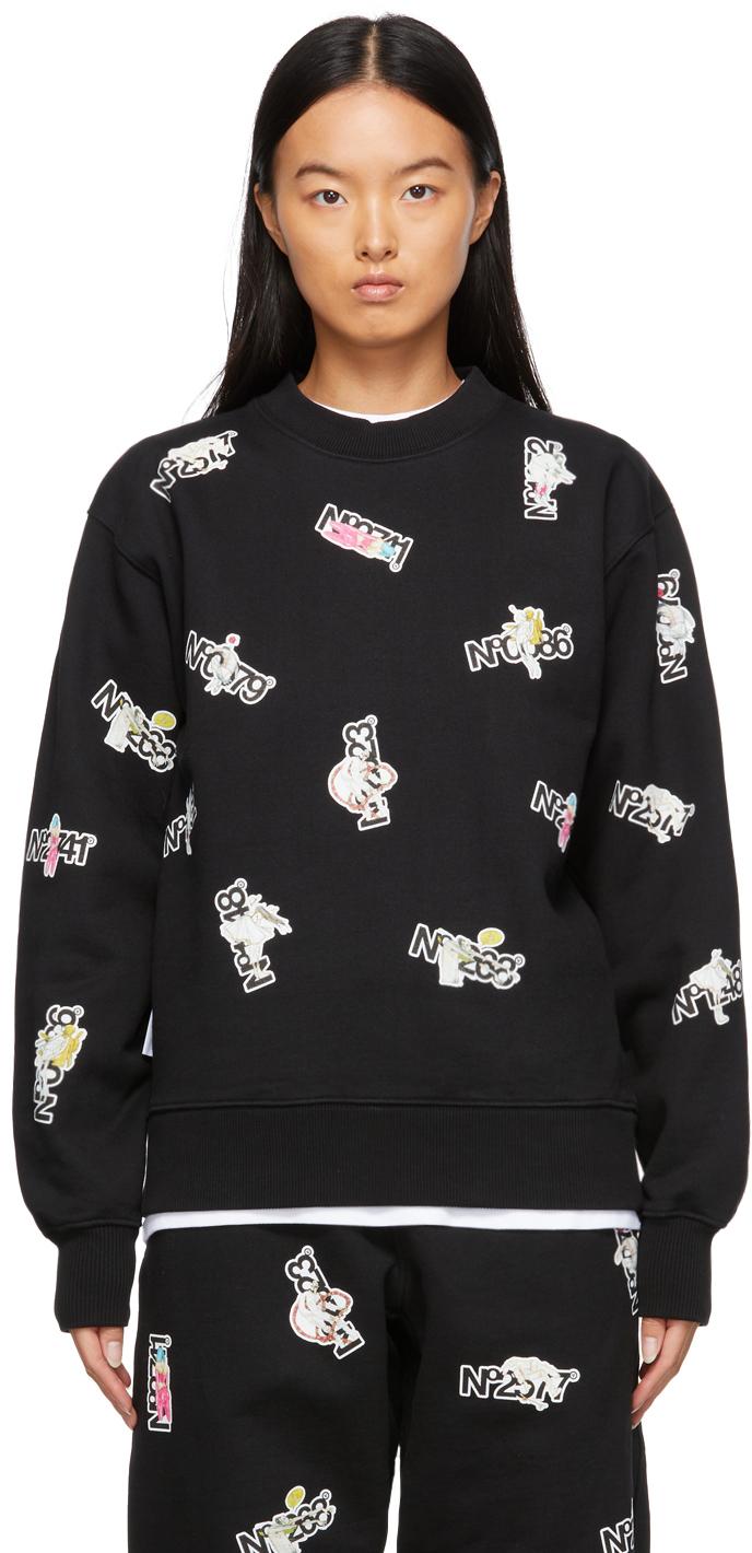 Black Sticker Series Sweatshirt
