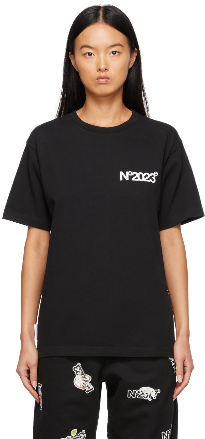 Black 'No.2023' T-Shirt