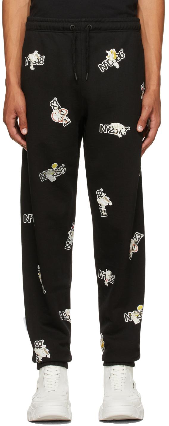 Black Sticker Series Lounge Pants