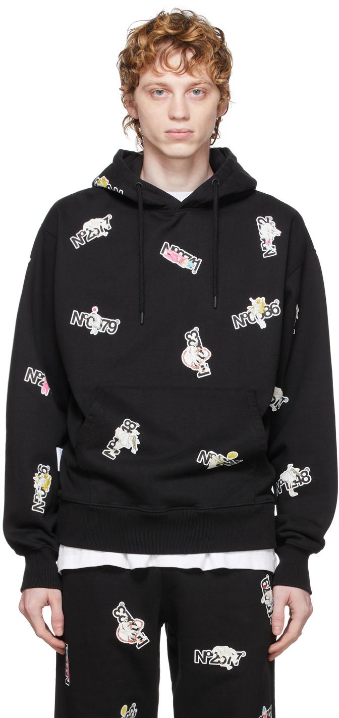 Black Sticker Series 2 Hoodie