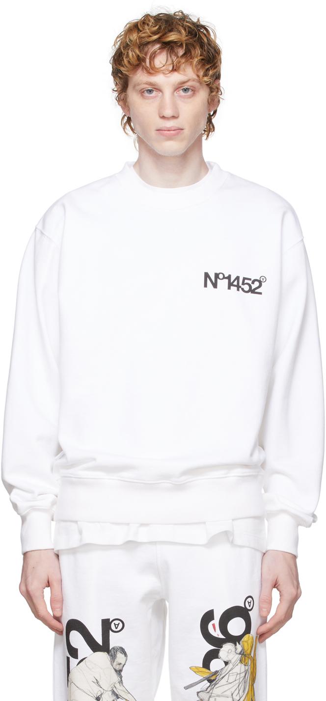 White 'No1452' Sweatshirt