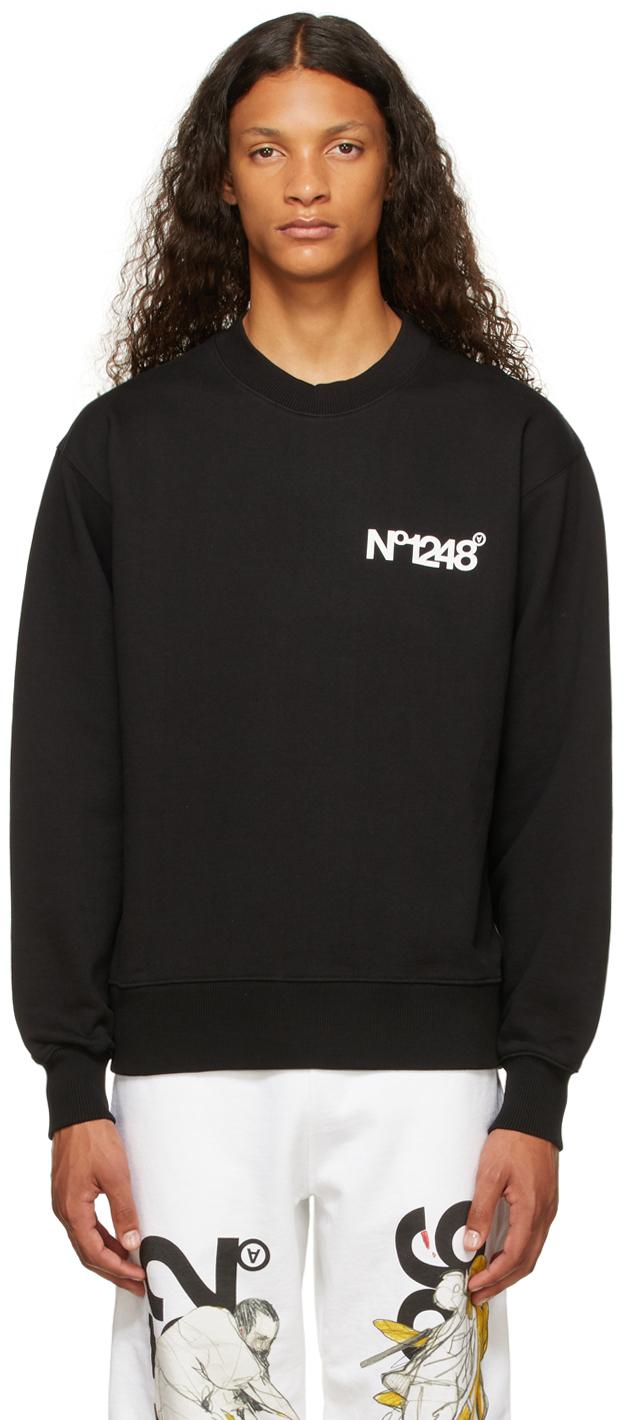 Black 'No1248' Sweatshirt