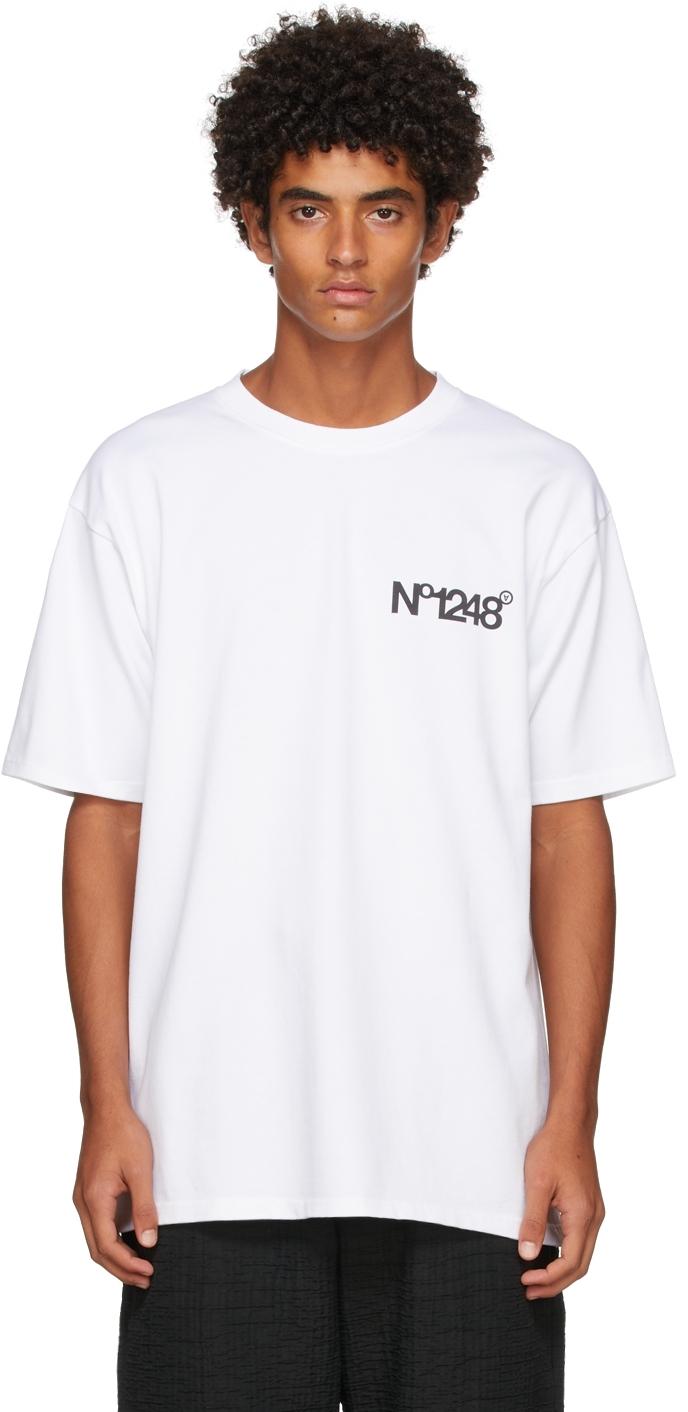 White 'No1248' T-Shirt