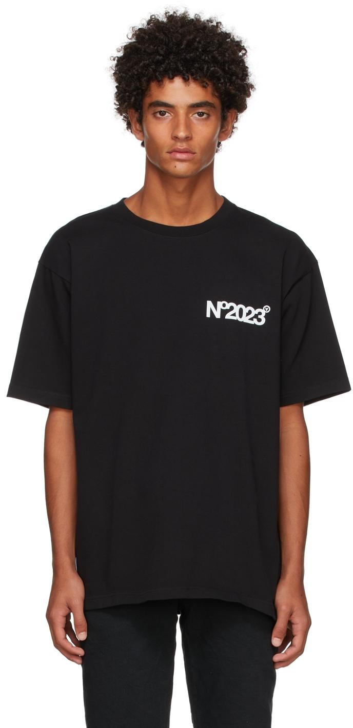 Black 'No2023' T-Shirt