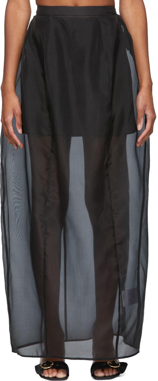 Black Organza Envelope Skirt