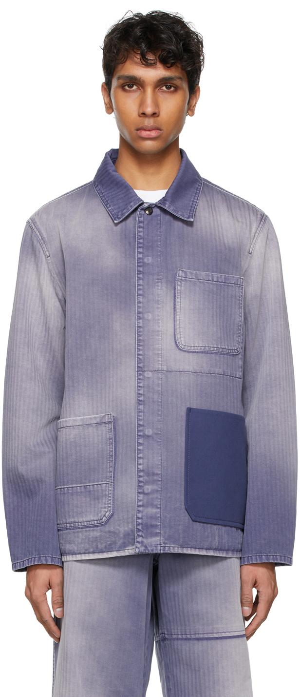 Valentino 紫色 Shaded 牛仔夹克