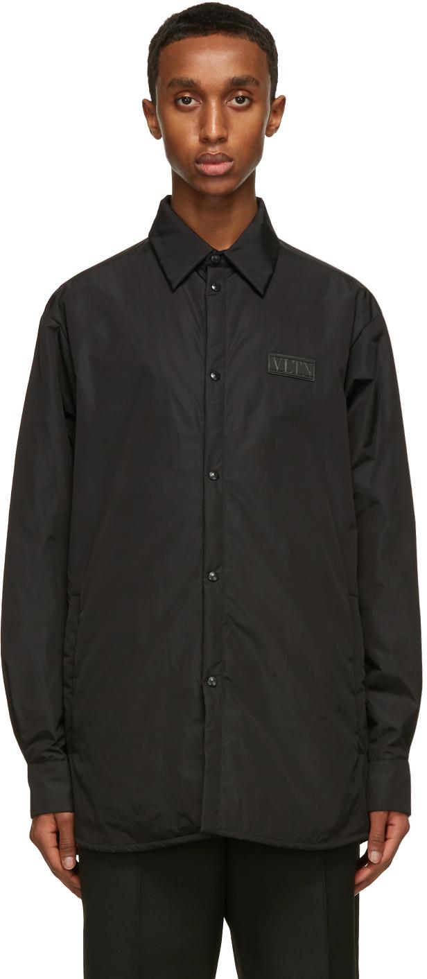 "Valentino 黑色""VLTN""衬垫夹克"